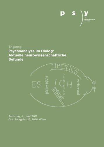 Tagung Psychoanalyse im Dialog: Aktuelle neurowissenschaftliche ...