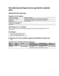 Verordening leerlingenvervoer gemeente Lelystad 2013