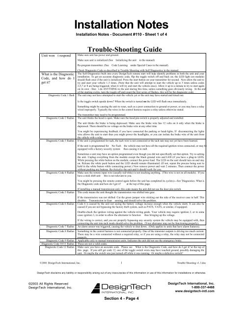 Trouble-Shooting Guide - Ready Remote