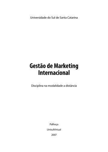 Gestão de Marketing Internacional - Unisul