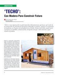'TECHO': - Revista El Mueble y La Madera