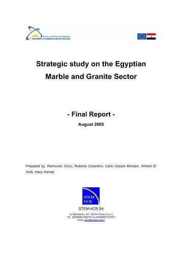 Strategic study on the Egyptian Marble and Granite Sector - IMC