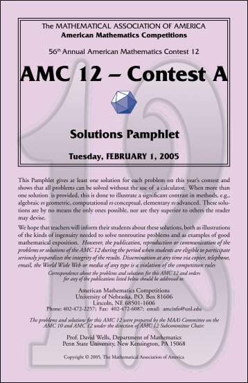 AMC 12 – Contest A