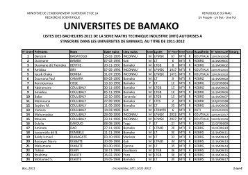 Liste_Bacheliers_2011_Immatriculés-Série MTI - Universités de ...