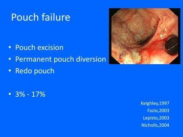 Pouch failure