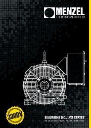 3300 V - Broschüre, deutsch, english - Menzel Elektromotoren GmbH