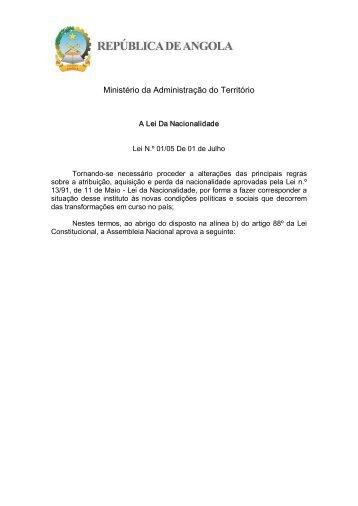 Lei da Nacionalidade - saflii
