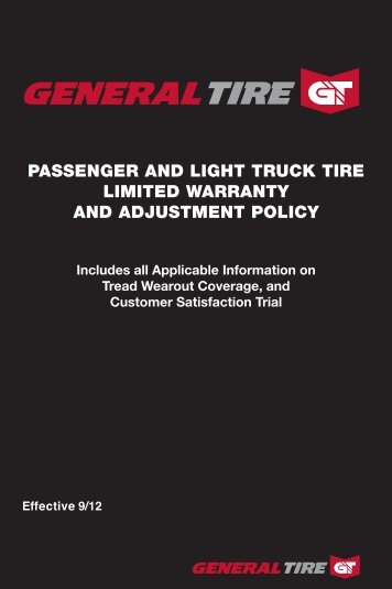 Limited Warranty Continental Tires