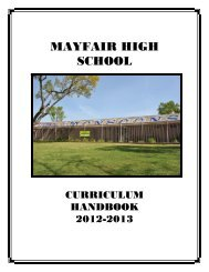 MAYFAIR HIGH SCHOOL - Bellflower Unified School District