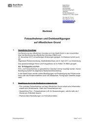 Fotoaufnahmen und Drehbewilligungen auf ... - Stadt Zürich