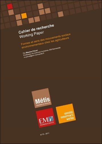Formes et sens des mouvements sociaux ... - EM Normandie