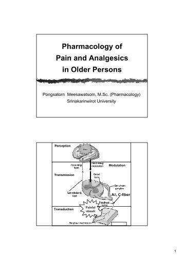Pharmacology of Pain and Analgesics in Older Persons