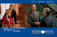 focus on - Badger Mutual Insurance Company