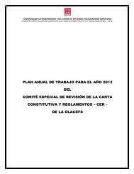 Plan Anual de Trabajo para el año 2013 del Comité ... - olacefs