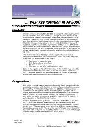 ... WEP Key Rotation in AP2000