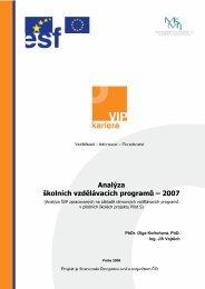 Analýza školních vzdělávacích programů – 2007 - Informační systém ...