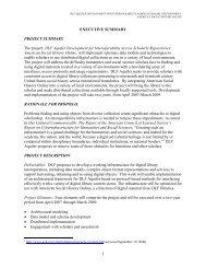 Executive Summary - Digital Library Federation
