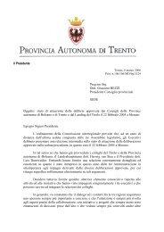 Il Presidente - Consiglio della Provincia autonoma di Bolzano