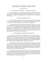 1 LA QUESTIO DE LA MUSIQUE – POUR ET CO TRE ... - Denis Tarko