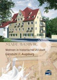 Wohnen in historischer Altstadt Gänsbühl 17, Augsburg - Plusbau