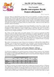 Note d'actualité : Quelle convergence fiscale franco-allemande