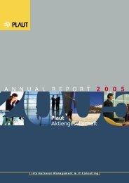 Annual report 2005 - Plaut International Management Consulting
