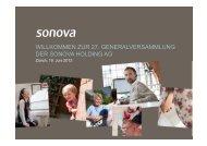 27. Generalversammlung 2012 - Sonova