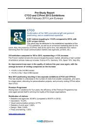 Pre-Study Report CTCO and C!Print 2013 Exhibitions 4/5/6 February ...