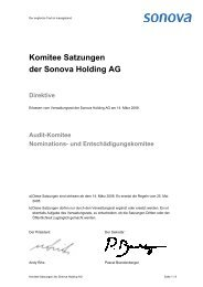 Audit-Komitee Satzungen - Sonova Holding AG