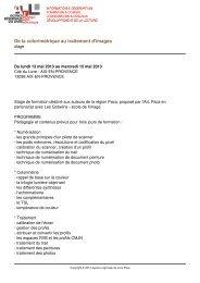 De la colorimétrique au traitement d'images - Agence Régionale du ...