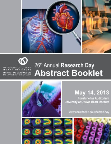 Abstract Booklet - University of Ottawa Heart Institute