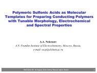Polymeric Sulfonic Acids as Molecular ... - elch.chem.msu.ru