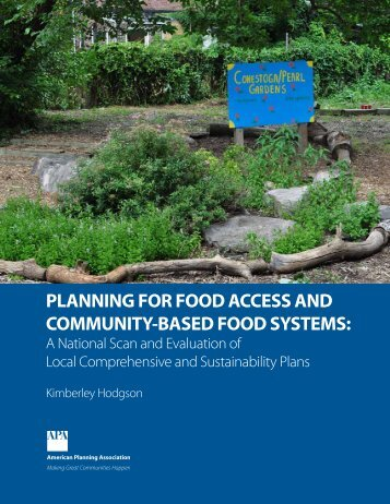 Planning for Food Access and Community-Based Food Systems