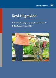 Kost til gravide - og Ernæringsrådet