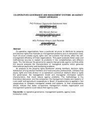 CO-OPERATIVES GOVERNANCE AND ... - fea-RP - USP