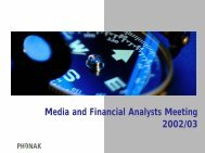 Media and Financial Analysts Meeting 2002/03 - Sonova
