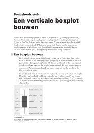 Een verticale boxplot bouwen - Excel Tekst en Uitleg