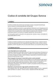 Codice di condotta del Gruppo Sonova