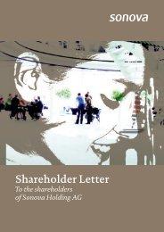 Shareholder Letter - Sonova