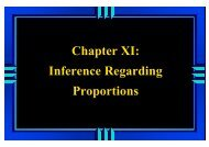 Chapter XI: Inference Regarding Proportions