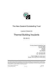 Thermal Building Insulants - Environmental Choice New Zealand