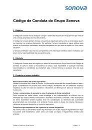Código de Conduta do  Grupo Sonova - Sonova Holding AG