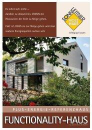 Referenzhaus Functionality Haus by Sonnleitner & Häfele