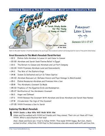 Torah Explorers - Unleavened Bread