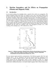 2. Martian Ionosphere and Its Effects on Propagation ... - DESCANSO