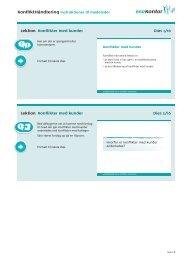 Lektion Konflikter med kunder Dias 1/16 Lektion ... - BAR kontor