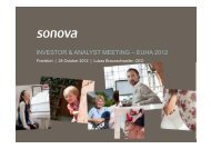 Analyst & Investor Presentation EUHA 2012,  Frankfurt - Sonova