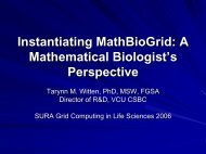 Instantiating MathBioGrid: A Mathematical Biologist's Perspective