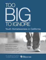 Too Big To Ignore: Youth Homelessness in California