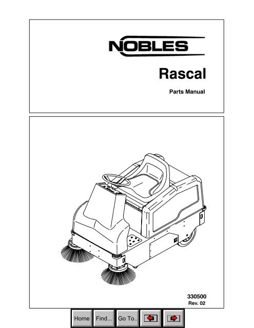 Rascal Parts Manual (Nobles Sweeper) - AbeJan Online Catalog on